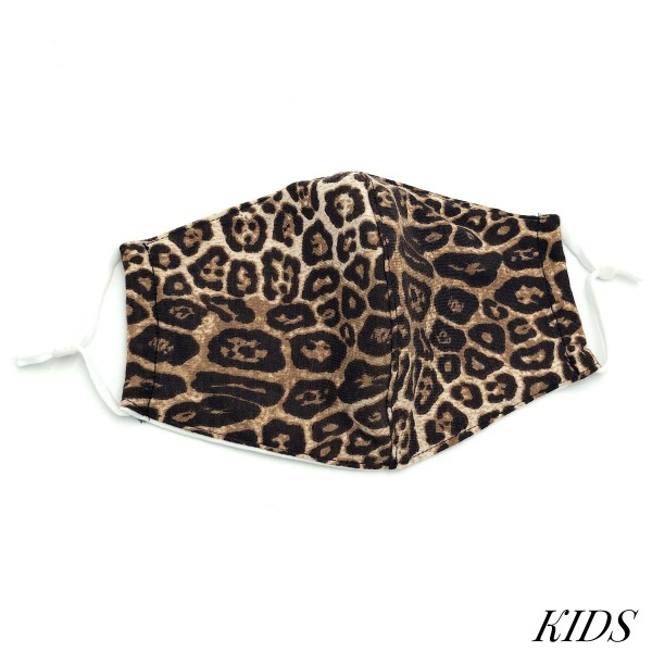Do everything in Love Brand Kids Adjustable Leopard Print Face Mask with Filter Insert.  - Non-Medical - Adjustable Ear Loops - Washable & Reusable - Wash After Each Use - Double Layer Fabric - No Filter or Filter Insert - Blocks against Sunlight / Dust / Etc - One size fits most Kids (5-11)  *** ALL Sales Final Due to CDC Recommendations