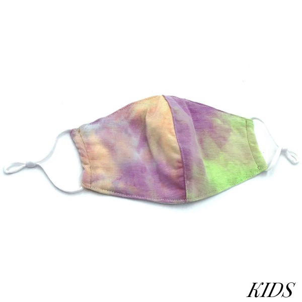 Do everything in Love Brand Kids Adjustable Tie-Dye Face Mask.  - Non-Medical - Adjustable Ear Loops - Washable & Reusable - Wash After Each Use - Double Layer Fabric - No Filter or Filter Insert - Blocks against Sunlight / Dust / Etc - One size fits most Kids (5-11)  *** ALL Sales Final Due to CDC Recommendations *** Tie-Dye Color May Vary