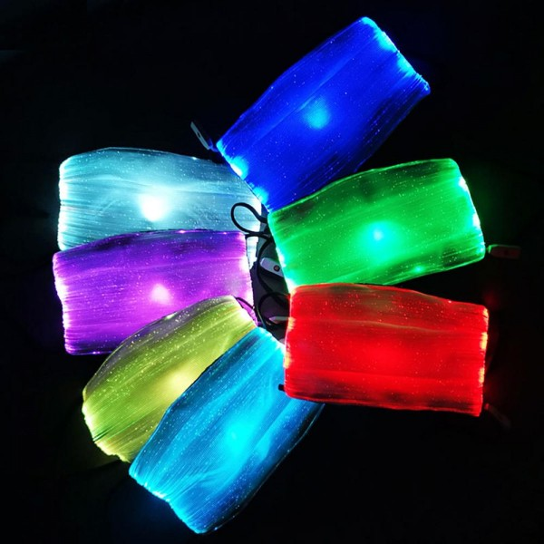 LED Luminous Pleated Face Mask with Filter & Filter Insert. (10 Pack)  Features:  - 3 Layers: Fiber Optic Fabric + LED, Waterproof Melt-Blown Fabric, Soluble Non-Woven Fabric - 7 Color Change with a Press of a Button - Helps Protect Against Certain Particles - Filter Insert & 1 Filter Included* - Adjustable Ear Loops - Waterproof - USB Charging - Charge 1-2 Hours For 10-12 Hour Use  - 10 Mask Per Pack - Each Mask Individually Wrapped  * Filters should last up to 1-7 days in between use *** ALL Sales Final Due to CDC Recommendations