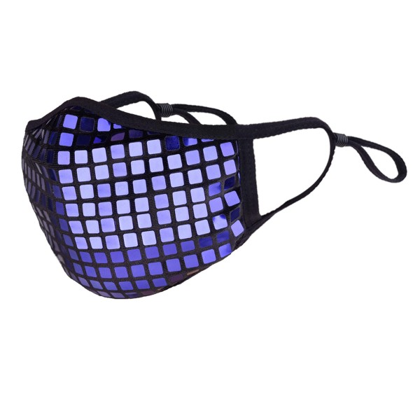 Non-Medical Disco-Ball Sequin Fashion Face Mask Featuring Adjustable Ear Loops & Filter Insert.  - Wash Before Use - Lay Flat to Dry - Reusable / Washable / Latex Free - Eco-Friendly - Protects from Dust / Fog / Spray / Pollen - Adjustable Ear Loop - Filter Insert (Filter Not Included)** - Filter Sold Separately - One size fits most Adults - Cotton & Elastic  *** ALL Sales Final Due to CDC Recommendations