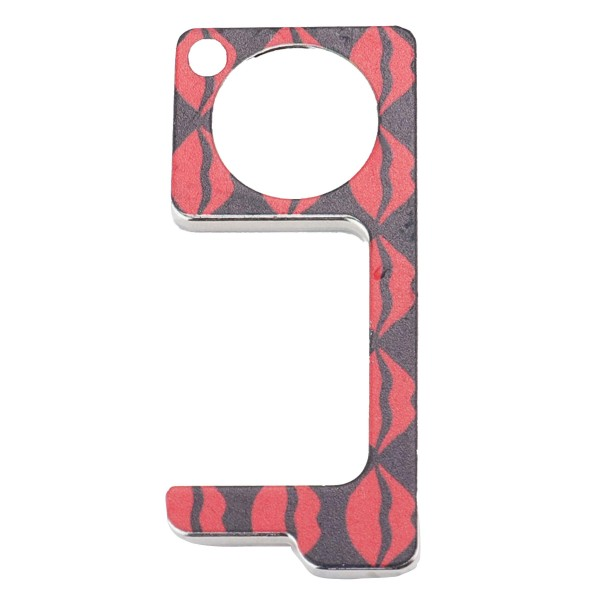 Keep Your Hands Safe with This Red Lips Fashion Design Contactless Safety Door Opener.  - Touch Free & Hygienic  - Keeps You From Touching Dirty Surfaces - Can Be Used For ATM Screens, Pin Pads, Door Handles Etc. - Features Keyring Loop, Finger Hole, Door Hook & Flat Tip  - Approximately 2.75""