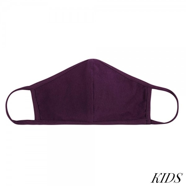 KIDS Reusable Solid T-Shirt Cloth Face Mask with Seam.  - Machine Wash in Cold - Mild Detergent - Lay Flat to Dry - Do Not Bleach - Washable & Reusable  - These Mask have NO Filter - One Size Fits Most KIDS (AGES 5-11 years) - Exterior Material: 95% Polyester / 5% Spandex - Interior Material: Cotton Blend in Ivory or White  ** These Masks Are Not For Professional Use and Not Medically Rated. These Masks Have No Proven Effectiveness Against Any Viruses.