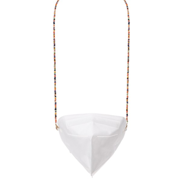 """Multi-Function Seed Beaded Face Mask Chain/Sunglasses Holder.  - Secures Face Mask/Sunglasses or ID  - Approximately 22"""" L"""