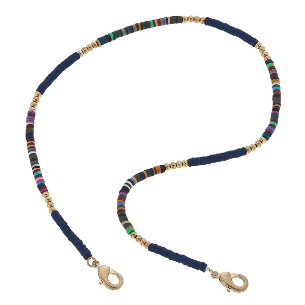 """2 in 1 Rubber Beaded Face Mask Necklace.  - Secures Face Mask  - Attach Clasps Together & Wear as a Trendy Necklace - Approximately 20"""" L"""