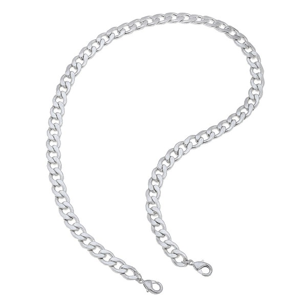"2 in 1 Curb Chain Face Mask Necklace in Silver.  - Secures Face Mask - Attach Clasps Together & Wear as a Trendy Necklace - Approximately 20"" L"