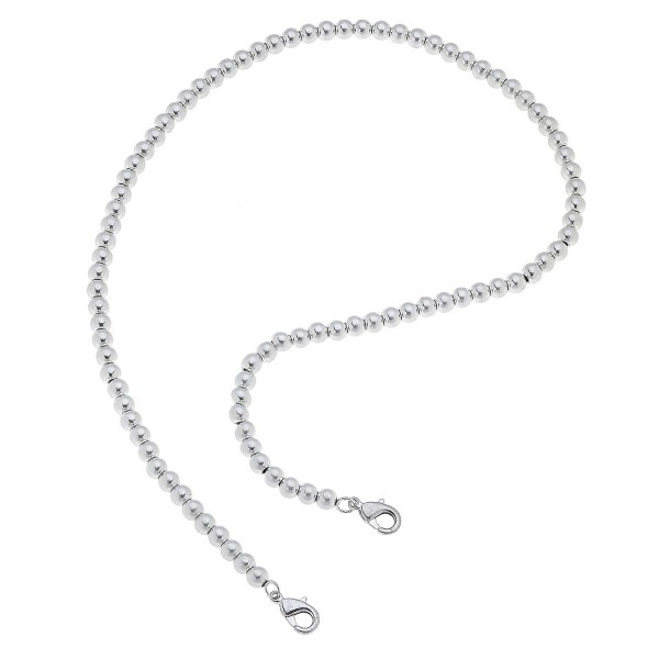 "2 in 1 Ball Beaded Face Mask Chain Necklace in Silver.  - Secures Face Mask  - Attach Clasps Together & Wear as a Trendy Necklace - Approximately 20"" L"