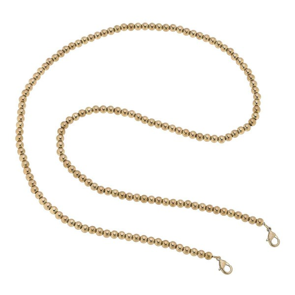 """2 in 1 Ball Beaded Face Mask Chain Necklace in Gold.  - Secures Face Mask - Attach Clasps Together & Wear as a Trendy Necklace - Approximately 32"""" L"""