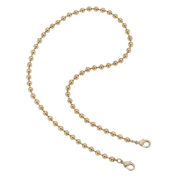 "2 in 1 Ball Chain Mask Necklace in Gold.  - Secures Face Mask - Attach Clasps Together & Wear as a Trendy Necklace - Approximately 20"" L"
