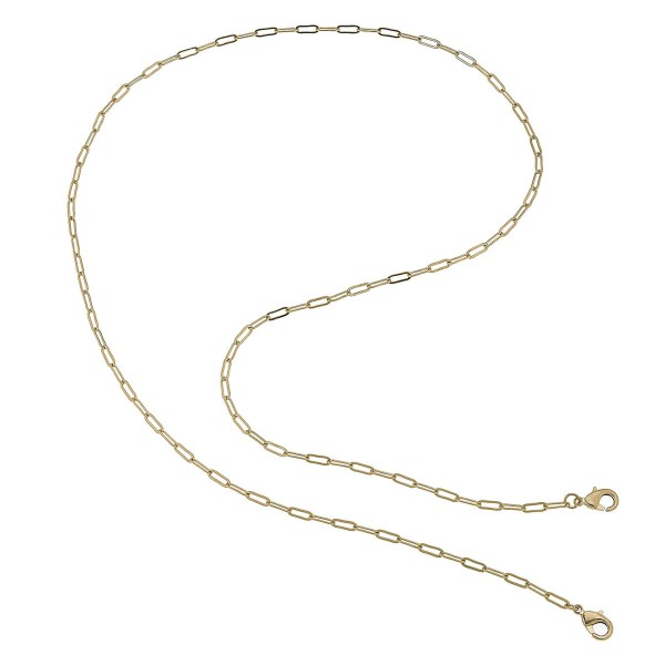"2 in 1 Hera Mask Chain Necklace in Gold.  - Secures Face Mask - Attach Clasps Together & Wear as a Trendy Necklace - Approximately 32"" L"