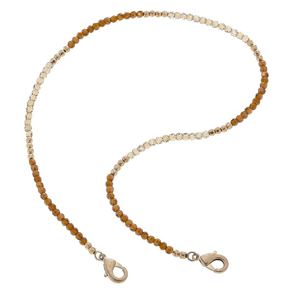 "2 in 1 Beaded Face Mask Necklace.  - Secures Face Mask - Attach Clasps Together & Wear as a Trendy Necklace - Approximately 20"" L"