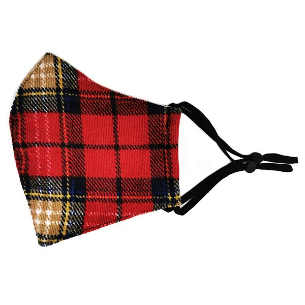 Do everything in Love Brand Adjustable Corduroy Plaid Face Mask Featuring Filter Insert.  - Non-Medical - Adjustable Ear Loops - Washable & Reusable - Wash After Each Use - Double Layer Fabric - Filter Insert (Filter Not Included)** - Blocks against Sunlight / Dust / Etc - One size fits most Adults  *** ALL Sales Final Due to CDC Recommendations