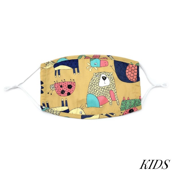 Do everything in Love Brand Kids Adjustable Animated Print Face Mask.  - Non-Medical - Adjustable Ear Loops - Washable & Reusable - Wash After Each Use - Double Layer Fabric - No Filter or Filter Insert - Blocks against Sunlight / Dust / Etc - One size fits most Kids (5-11)  *** ALL Sales Final Due to CDC Recommendations