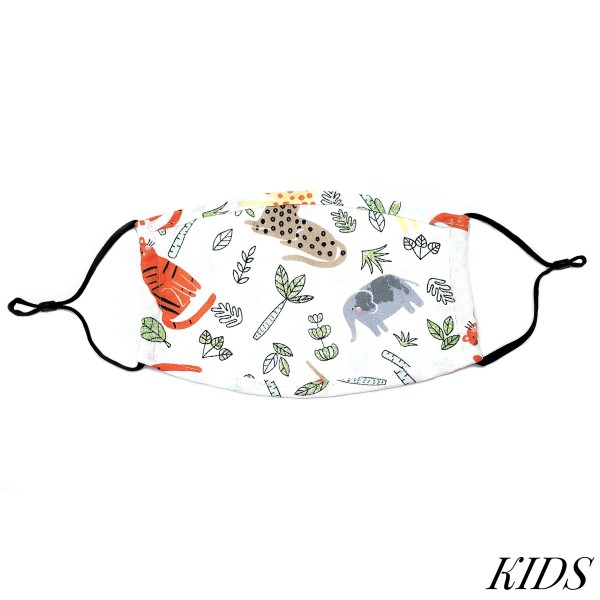 Do everything in Love Brand Kids Adjustable Safari Print Face Mask.  - Non-Medical - Adjustable Ear Loops - Washable & Reusable - Wash After Each Use - Double Layer Fabric - No Filter or Filter Insert - Blocks against Sunlight / Dust / Etc - One size fits most Kids (5-11)  *** ALL Sales Final Due to CDC Recommendations