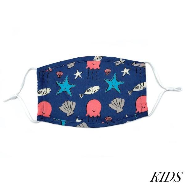 Do everything in Love Brand Kids Adjustable Sea Life Print Face Mask.  - Non-Medical - Adjustable Ear Loops - Washable & Reusable - Wash After Each Use - Double Layer Fabric - No Filter or Filter Insert - Blocks against Sunlight / Dust / Etc - One size fits most Kids (5-11)  *** ALL Sales Final Due to CDC Recommendations