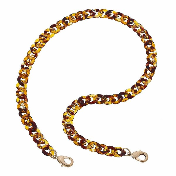 """2 in 1 Acrylic Curb Chain Mask Necklace.  - Secures Face Mask  - Attach Clasps Together & Wear as a Trendy Necklace - Approximately 20"""" L"""