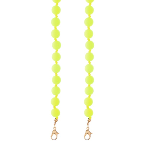 """Rubber Ball Beaded Face Mask Lanyard.  - Secures Face Mask Around Neck - Approximately 30"""" L - 9mm Bead Size"""