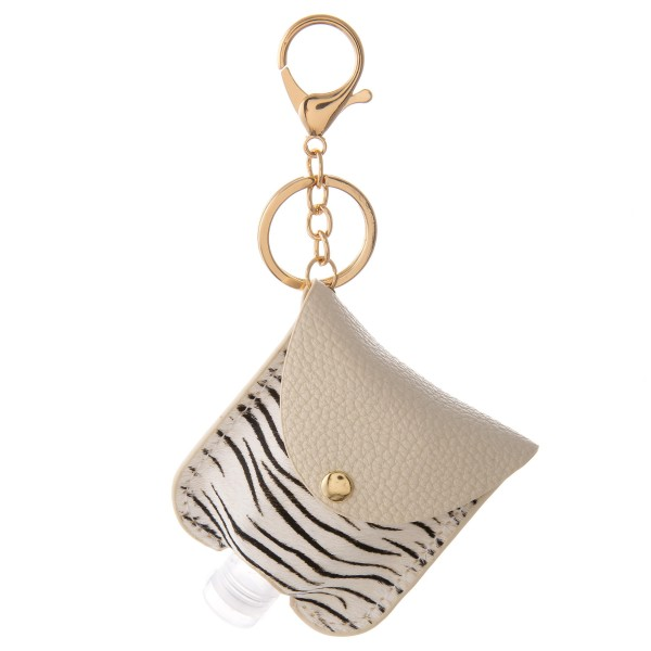 Wholesale keep Self Protected re Out About Genuine Leather Zebra Print Hand Sani