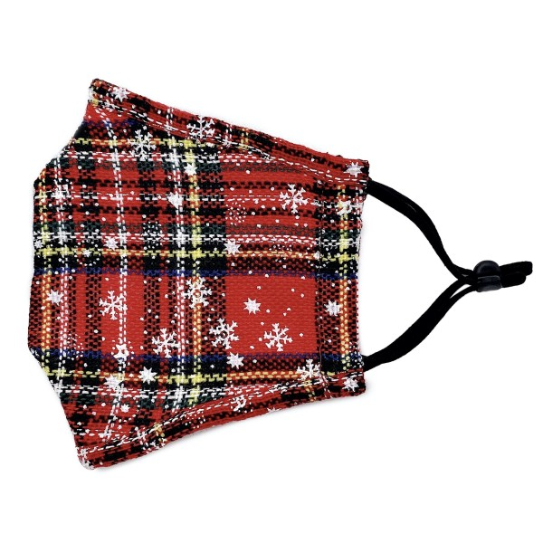 Do everything in Love Brand Adjustable Snowflake Tartan Plaid Face Mask with Filter Insert.  - Adjustable Ear Loops - Washable & Reusable - Non-Medical - Filter Insert - Filter Sold Separately*** - Blocks against Sunlight / Dust / Etc - Wash After Each Use - One size fits most Adults  *** ALL Sales Final Due to CDC Recommendations