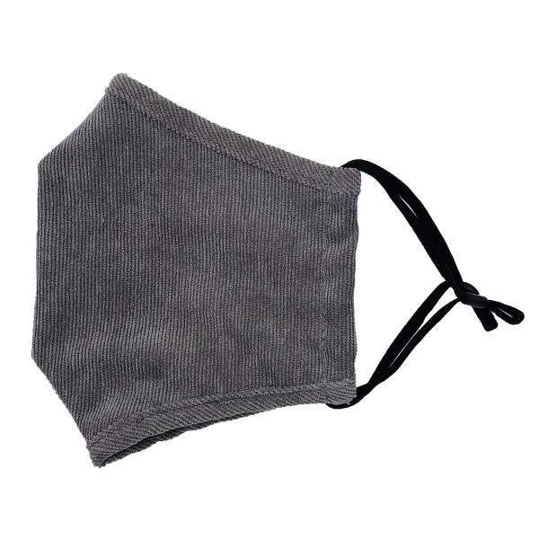 Wholesale do everything Love Brand Adjustable Corduroy Fashion Mask Filter Pocke