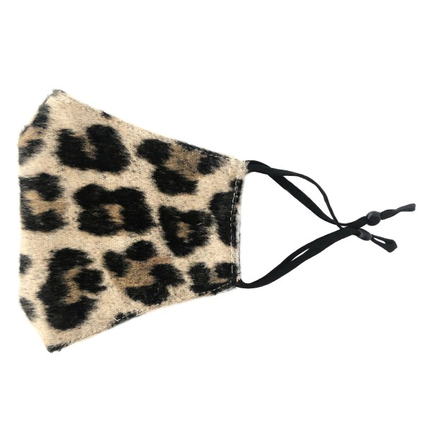 Wholesale do everything Love Brand Adjustable Fleece Leopard Print Mask Filter P