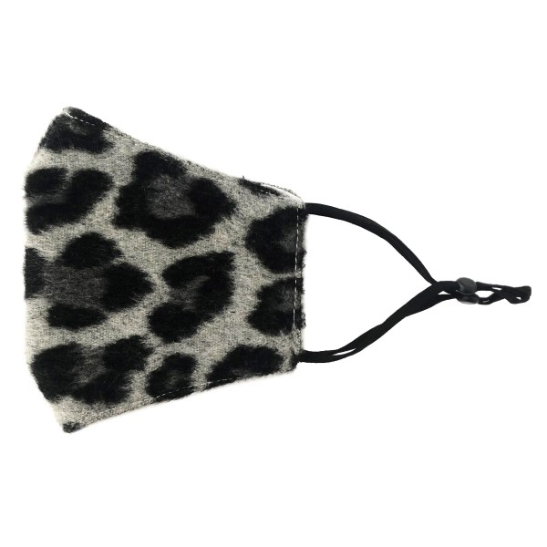 Do everything in Love Brand Adjustable Fleece Leopard Print Face Mask with Filter Pocket.  - Adjustable Ear Loops - Washable & Reusable - Non-Medical - Filter Insert - Filter Sold Separately*** - Blocks against Sunlight / Dust / Etc - Wash After Each Use - One size fits most Adults  *** ALL Sales Final Due to CDC Recommendations