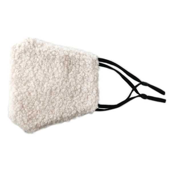 Wholesale do everything Love Brand Adjustable Faux Sherpa Mask Filter Pocket Adj