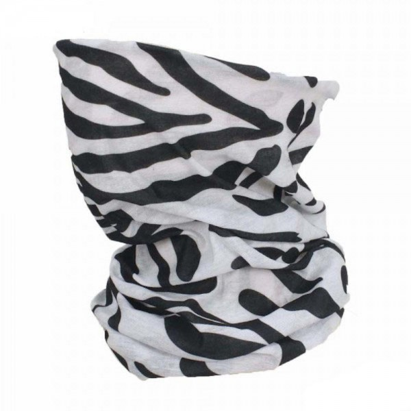 Zebra Print Seamless Tubular Bandana Face Mask.   - Seamless - Tubular Style - Easy Pull Up & Down - Washable & Reusable - Lightweight & Breathable - Helps Protect agains Dust, Wind, Sunlight Etc. - Covers Neck - Multifunctional Wear - These Mask Are Non-Medical - No Filter - One size fits most - 100% Polyester Microfibre  *** ALL Sales Final Due to CDC Recommendations