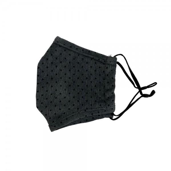 Wholesale do everything Love Brand Adjustable Corduroy Polka Dot Mask Non Medica