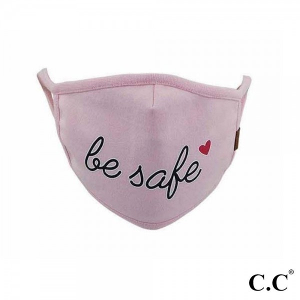 C.C MASK-BESAFE C.C Be Safe Fashion Face Mask  - Non-Medical - Washable & Reusable - Filter Pocket - No Filter* - Double Layered Fabric - Helps Protect Against Particles - One size fits most Adults - 100% Cotton & Elastic