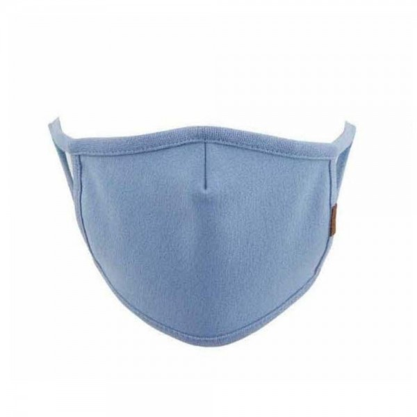 C.C MASK-14-SOLID C.C Solid Color Face Mask  - Non-Medical - No Filter - Single Layer of Cotton Spandex - Washable & Reusable - Helps Protect Against Particles - One size fits most Adults