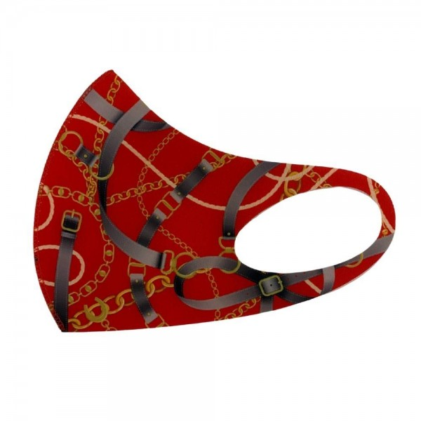 Stretchable Designer Inspired Print Face Mask.  - Non-Medical - No Filter - Stretchable Design - Helps Protect Against Particles - One size fits most Adults - 100% Polyester