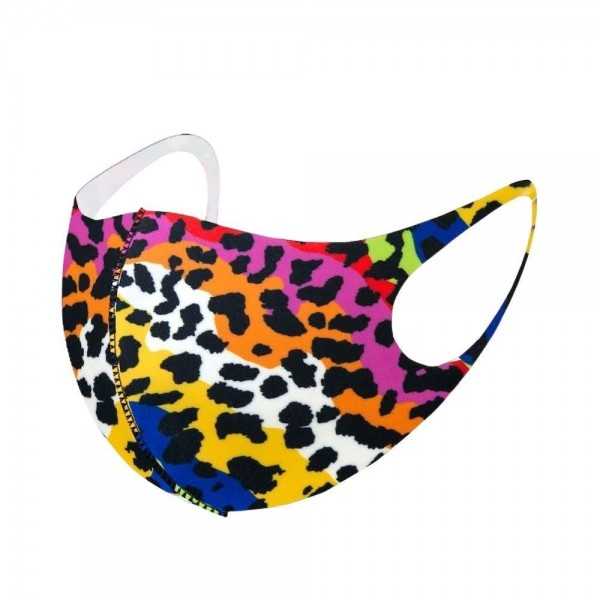 Stretchable Multicolor Leopard Print Face Mask.  - Non-Medical - No Filter - Stretchable Design - Helps Protect Against Particles - One size fits most Adults - 100% Polyester  *** ALL Sales Final Due to CDC Recommendations