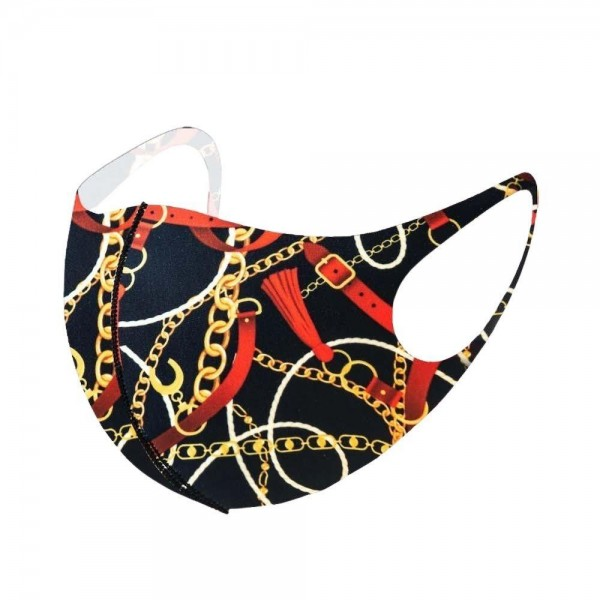 Stretchable Designer Inspired Face Mask.  - Non-Medical - Stretchy Design - No Filter - One size fits most Adults - 100% Polyester