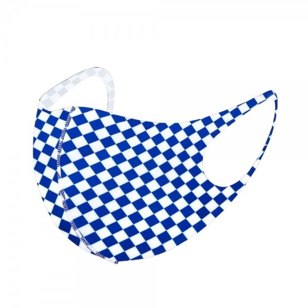 Stretchable Checkered Print Face Mask.  - Non-Medical - No Filter - Stretchable Design - Helps Protect Against Particles - One size fits most Adults - 100% Polyester