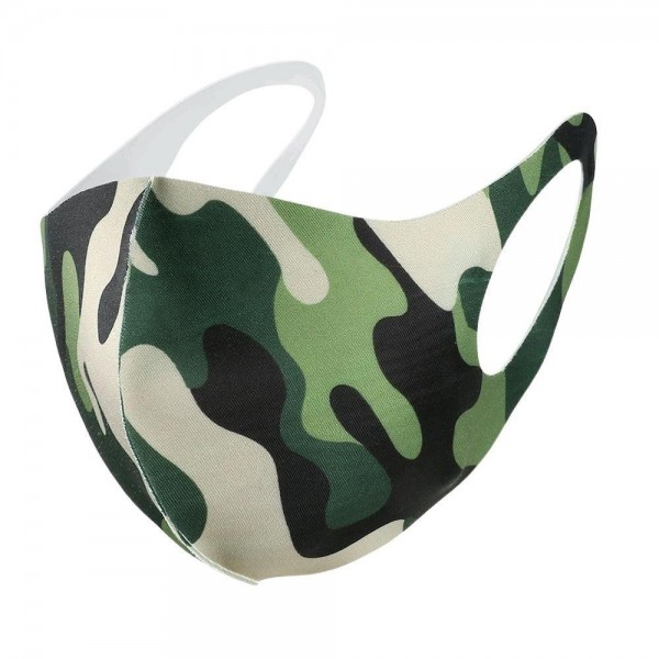 Stretchable Camouflage Face Mask.  - Non-Medical - No Filter - Stretchable Design - Helps Protect Against Particles - One size fits most Adults - 100% Polyester