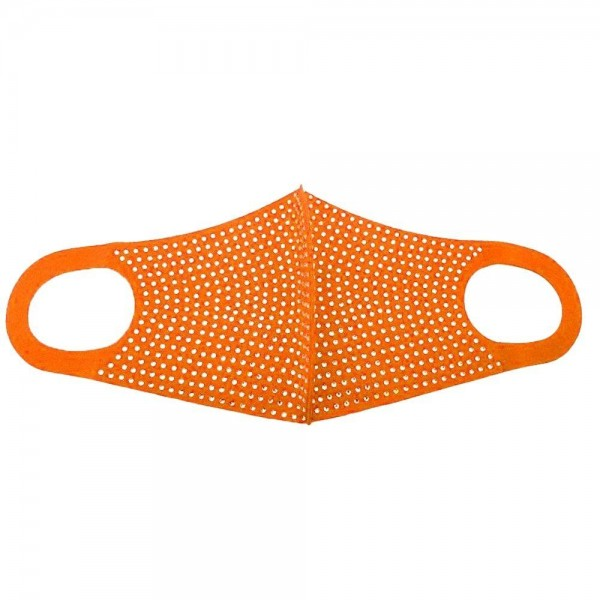 Stretchable Neon Rhinestone Face Mask.  - Non-Medical - No Filter - Stretchable Design - Helps Protect Against Particles - One size fits most Adults - 100% Polyester  *** ALL Sales Final Due to CDC Recommendations