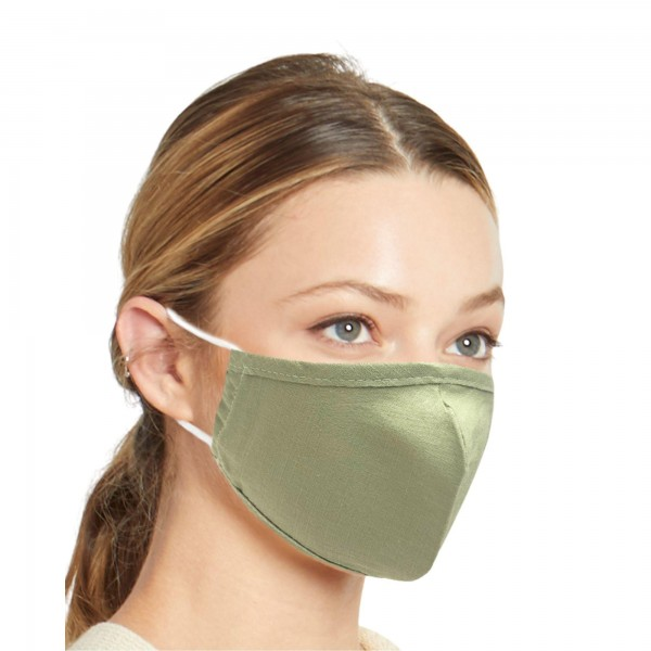Do everything in Love Brand Solid Lightweight Adjustable Face Mask.  - Lightweight Breathable Material - Non-Medical - Filter Pocket - Filter NOT Included - Adjustable Ear Loops - Helps Protect Against Particles - Cotton & Elastic