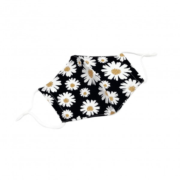 Do everything in Love Brand Adjustable Lightweight Flower Print Face Mask.  - Lightweight Breathable Material - Non-Medical - Filter Pocket - Filter NOT Included - Adjustable Ear Loops  - Helps Protect Against Particles  - Cotton & Elastic