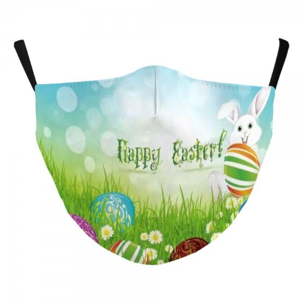 Adjustable Easter Print Face Mask with Filter Pocket.  - Non-Medical  - Easter Print - Filter Pocket - Filter NOT* Included - Adjustable Ear Loops - Cotton & Elastic Material