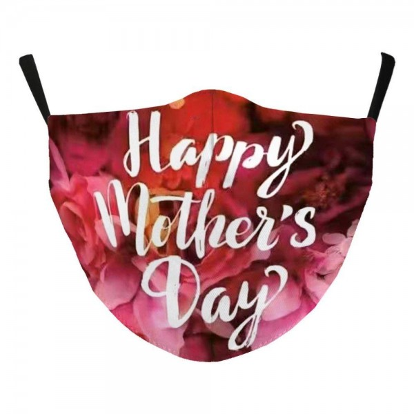 Adjustable Mother's Day Print Face Mask with Filter Pocket.  - Non-Medical  - Mother's Day Print - Filter Pocket - Filter NOT* Included - Adjustable Ear Loops - Cotton & Elastic Material