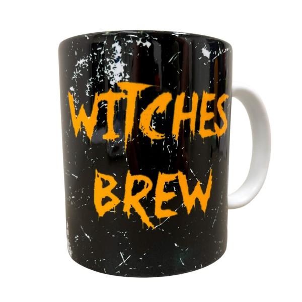 """Witches Brew"" Black Print Ceramic Mug.  - Holds up to 8 fl oz"