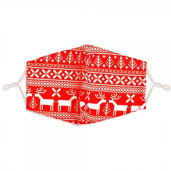 Adjustable Scandinavian Print Mask with Filter Insert.  - Adjustable Ear Loops - Washable & Reusable - Non-Medical - Filter Insert - Filter Sold Separately*** - Blocks against Sunlight / Dust / Etc - Wash After Each Use - One size fits most Adults  *** ALL Sales Final Due to CDC Recommendations