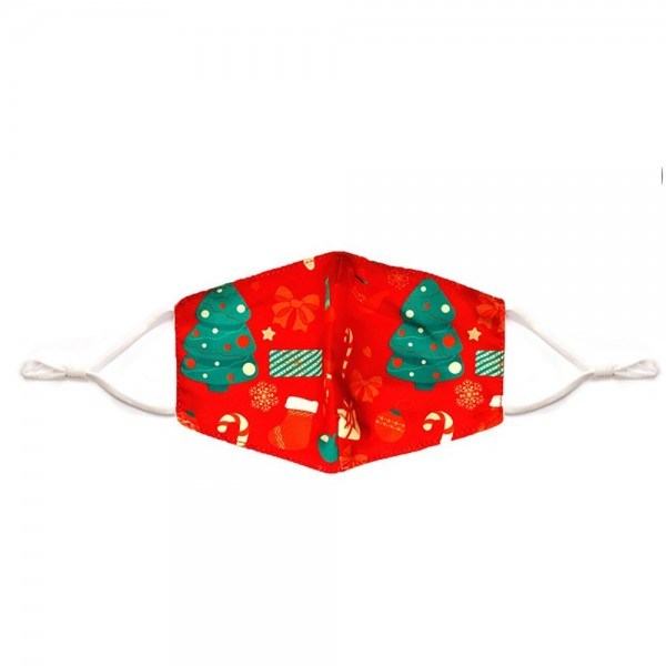Kids Adjustable Christmas Themed Mask with Filter Insert.  - Adjustable Ear Loops - Washable & Reusable - Non-Medical - Filter Insert - Filter Sold Separately*** - Blocks against Sunlight / Dust / Etc - Wash After Each Use - One size fits most Kids  *** ALL Sales Final Due to CDC Recommendations