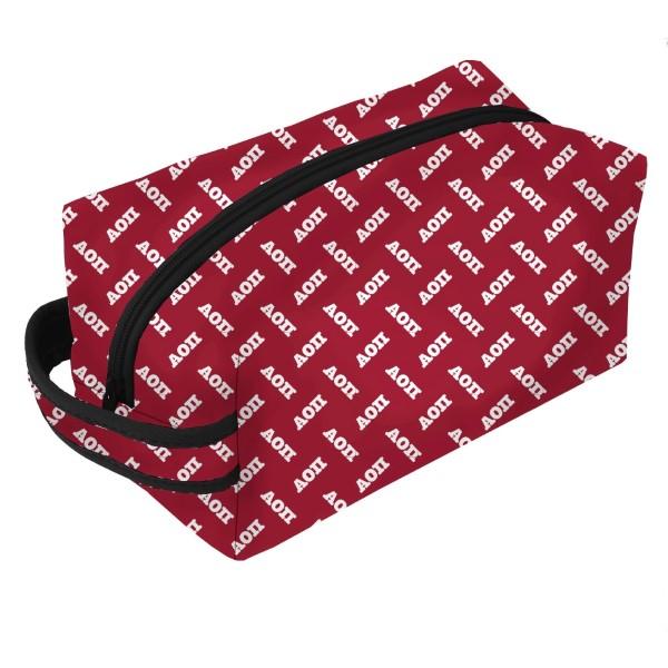 Wholesale neoprene Zipper Bag Alpha Omicron Pi zipper bag includes convenient ca
