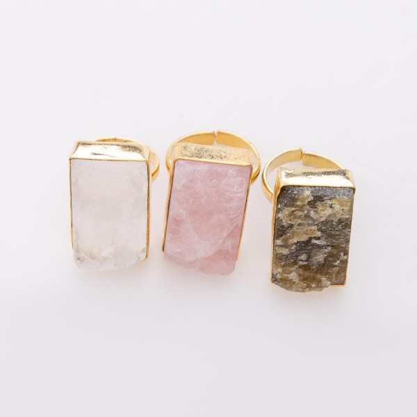 """Druzy Statement Ring.  - One size fit most - Adjustable Open Band - Druzy approximately 1"""""""