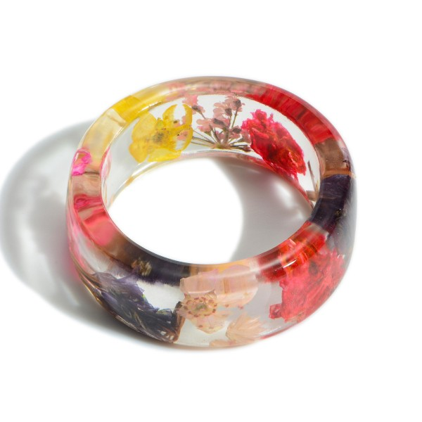 Multi-Colored Resin Ring.   - Approximately 11mm in Diameter
