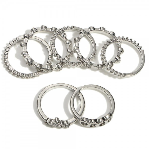 Set of Six Rings   -Rings Approximately Size 7