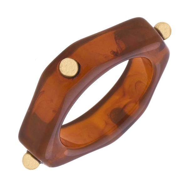 Resin Studded Stacking Ring  - Size 7