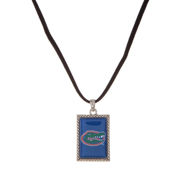 Wholesale officially licensed University Florida necklace black cord square logo