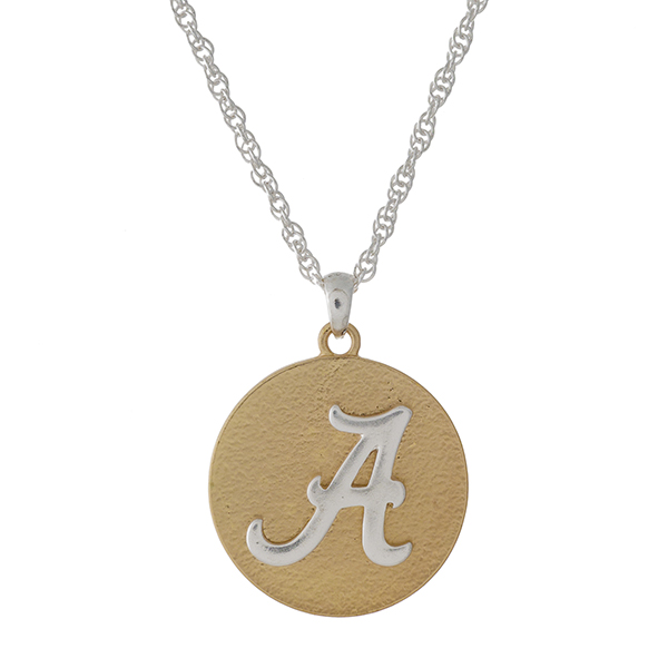 Wholesale officially licensed two necklace University Alabama logo pendant